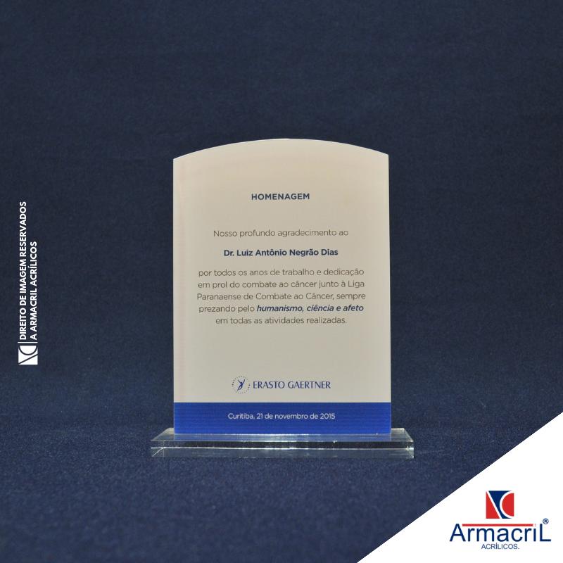 Comprar Troféu de Acrílico em Branco Água Rasa - Troféu de Acrílico Personalizado