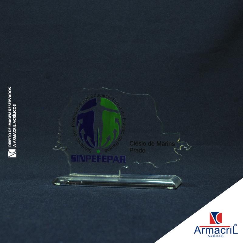 Comprar Troféu de Acrílico para Personalizar Parque Santa Madalena - Troféu em Acrílico Cristal