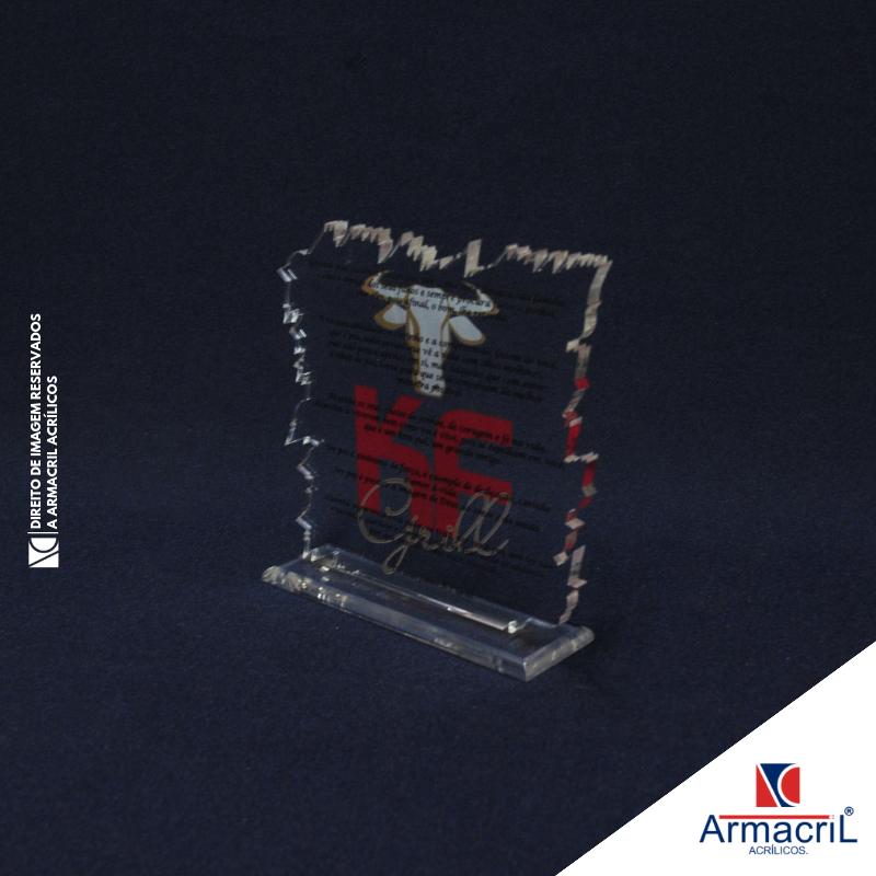Onde Comprar Troféu de Acrílico em Branco Penha de França - Troféu em Acrílico Cristal