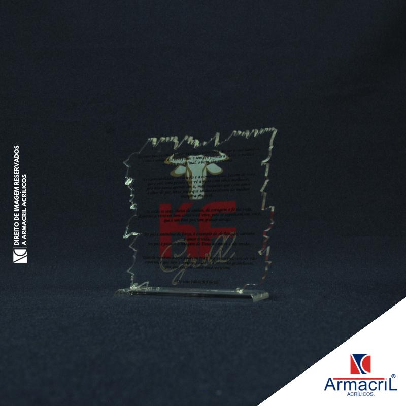 Onde Comprar Troféu Placa Acrílico Alvarenga - Troféu de Acrílico para Personalizar