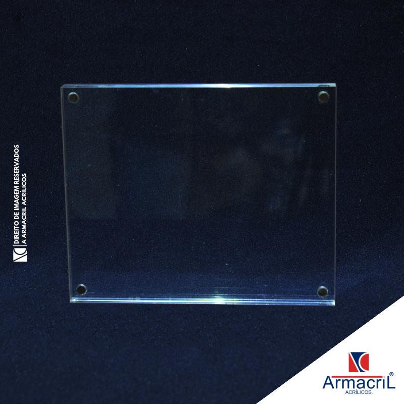 Placa de Acrílico Transparente Vila Clementina - Placa de Acrílico Personalizada