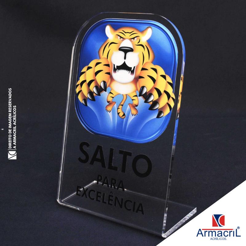 Preço da Placa em Acrílico Transparente com Logo Santa Catarina - Placa de Acrílico Personalizada