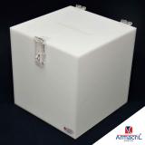 caixa acrílico branca valor Jabaquara