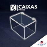 caixa em acrílico cristal preço Guaianases