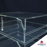 caixa em acrílico cristal valor Nova Piraju