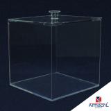 caixa em acrílico transparente valor Artur Alvim