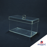 caixas acrílico transparentes Conjunto Residencial Butantã