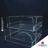 caixa em acrílico cristal