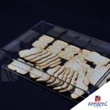 caixa em acrílico transparente