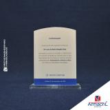 comprar troféu placa acrílico Jardim Adhemar de Barros