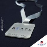 medalha personalizada em acrílico Santana