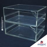 orçamento de caixa em acrílico cristal Zona Sul