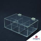 orçamento de caixa em acrílico transparente Engenheiro Goulart