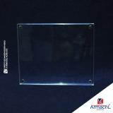 placa de acrílico transparente Água Branca