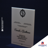 placa de homenagem em acrílico Perus