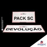 placa em acrílico adesivada Vila Carrão