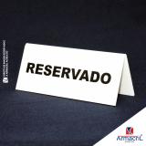 placas acrílico personalizadas Parque do Otero