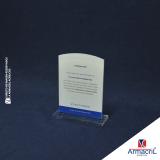 placas de homenagem em acrílico Anália Franco