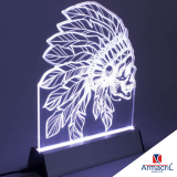 placa acrílico com led
