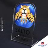 preço da placa em acrílico transparente com logo Minas Gerais