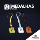 preço do medalha em acrílico Água Rasa