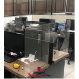 proteção de acrílico para balcão preço Campo Limpo
