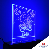 quanto custa placa acrílico com led Interlagos
