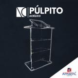 quanto custa púlpito em acrílico transparente Itaim Paulista