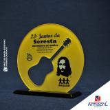 troféu acrílico redondo melhor preço Vila Gustavo