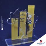 troféus de acrílico em branco Vila Marcelo