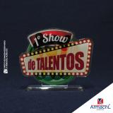 troféus em acrílico Parque do Otero