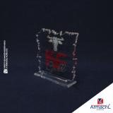 troféu de acrílico em branco