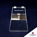 urna acrílico transparente preço Ponte Rasa