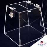 urna acrílico transparente Raposo Tavares