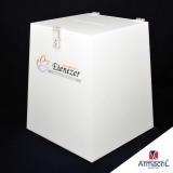 urna de acrílico branca Alvarenga