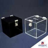urna de acrílico quadrada Pinheiros