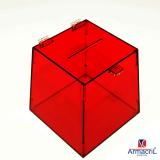 urnas de acrílico quadradas Alvarenga