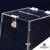 urna acrílico transparente
