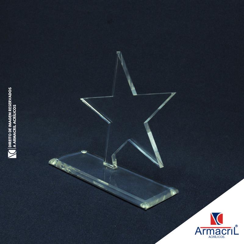 Troféu de Acrílico em Branco Jaraguá - Troféu em Acrílico Cristal