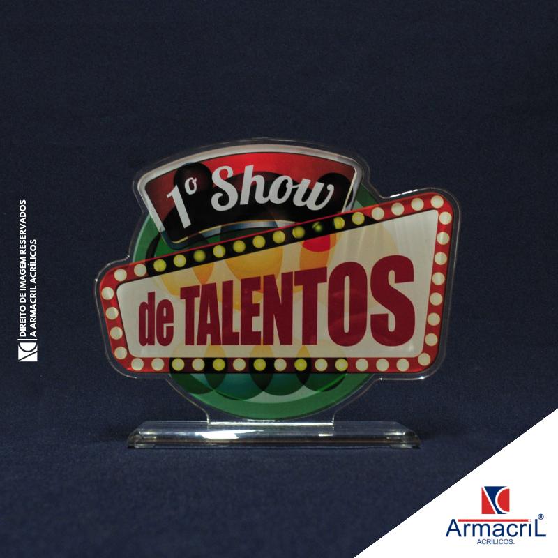 Troféu de Acrílico Personalizado Melhor Preço Vila Dalila - Troféu em Acrílico