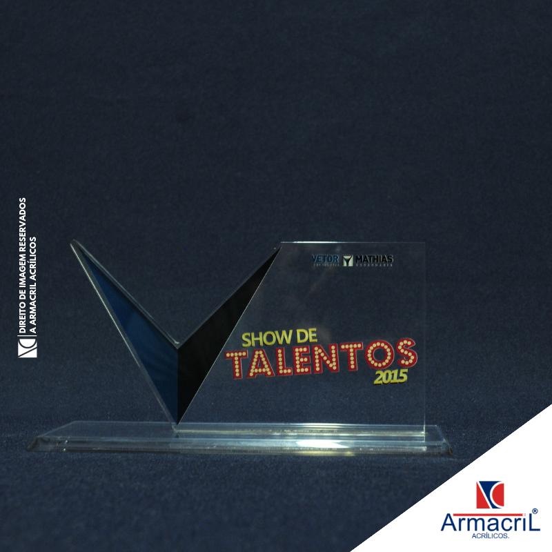 Troféus Acrílico Laser Cidade Ademar - Troféu de Acrílico Personalizado