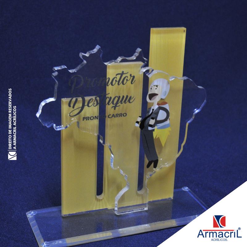 Troféus de Acrílico em Branco Jurubatuba - Troféu Acrílico Led