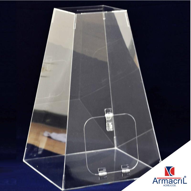 Urna Acrilica Grande Instituto da Previdência - Urna em Acrílico Cristal