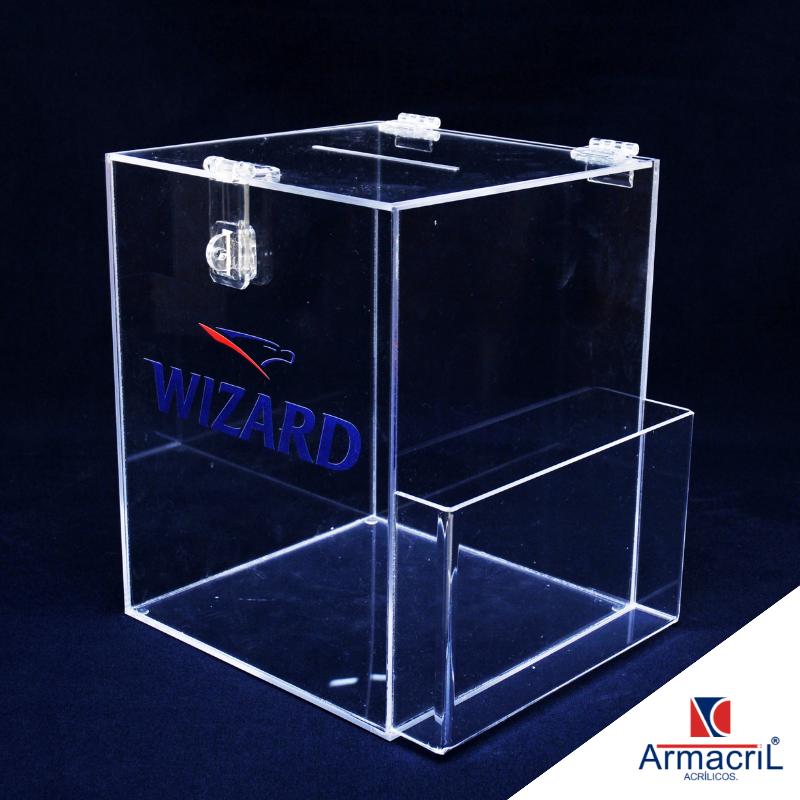 Urna de Acrílico Personalizada Preço Sacomã - Urna em Acrílico Cristal