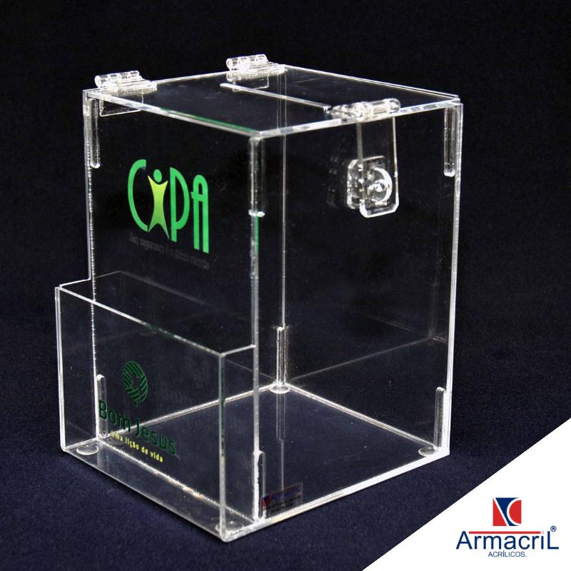 Urnas de Acrílico Personalizadas Fazenda Morumbi - Urna em Acrílico Cristal